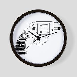 Snub Nose 45 Hand Gun Wall Clock