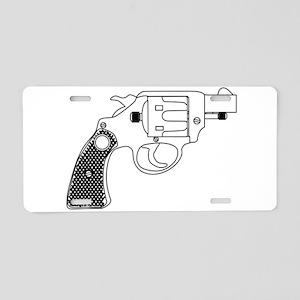 Snub Nose 45 Hand Gun Aluminum License Plate
