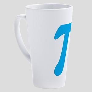 Blue Pi Symbol 17 oz Latte Mug
