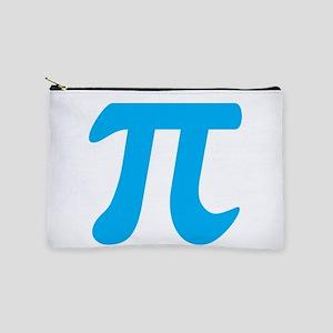 Blue Pi Symbol Makeup Bag