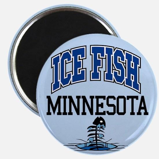 Ice Fish Minnesota Magnet