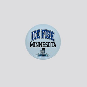 Ice Fish Minnesota Mini Button