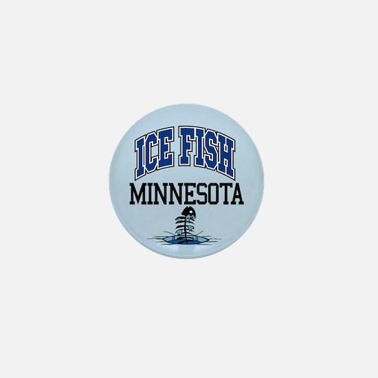 Ice Fish Minnesota Mini Button