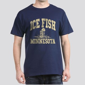 Ice Fish Minnesota Dark T-Shirt