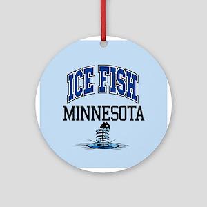 Ice Fish Minnesota Ornament (Round)