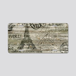 vintage paris eiffel tower Aluminum License Plate