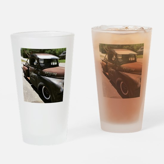 Funny Tow truck Drinking Glass