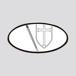 Crusaders Sword and Shield Outline Patch