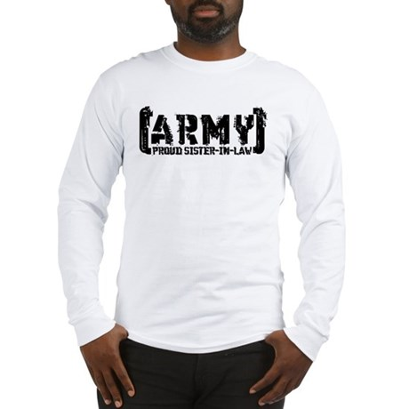 Proud Army Sis-n-Law - Tatterd Style Long Sleeve T