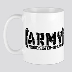 Proud Army Sis-n-Law - Tatterd Style Mug