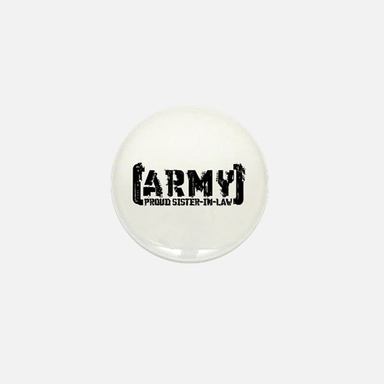 Proud Army Sis-n-Law - Tatterd Style Mini Button