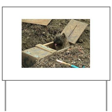 Cairn Terrier Earthdog Yard Sign