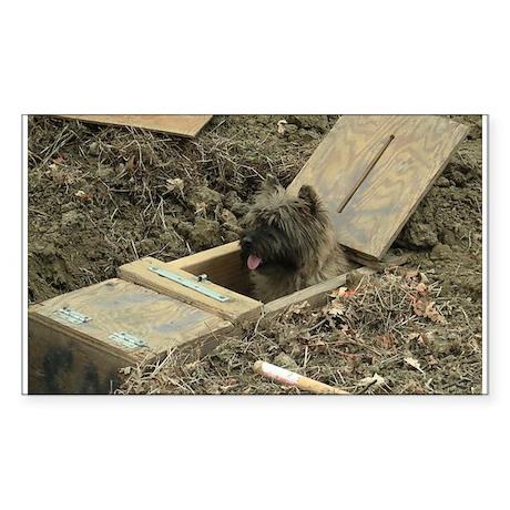 Cairn Terrier Earthdog Sticker (Rectangle)