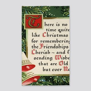 pine wreath christmas friendship Area Rug