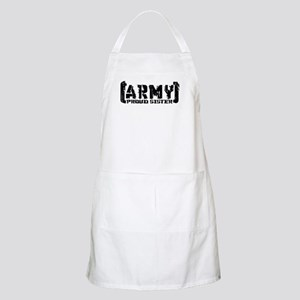 Proud Army Sis - Tatterd Style BBQ Apron