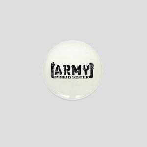 Proud Army Sis - Tatterd Style Mini Button