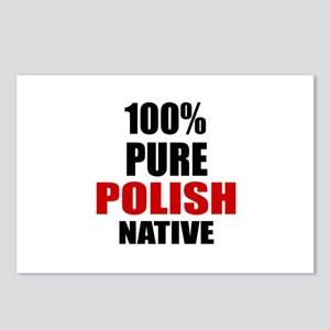 100 % Pure Polish Native Postcards (Package of 8)