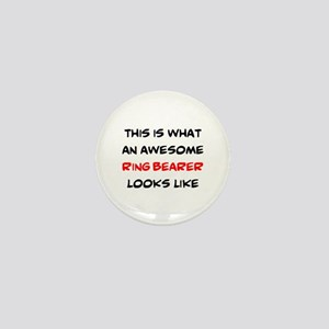 awesome ring bearer Mini Button