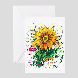 Artsy Sunflowers Stationery
