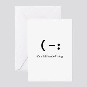 left handed Greeting Cards
