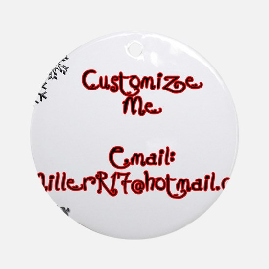 Customizable Holiday Ornament (Round)
