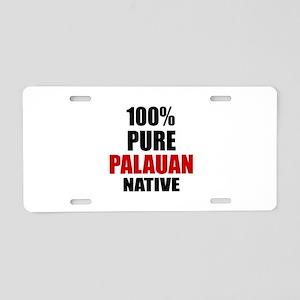 100 % Pure Palauan Native Aluminum License Plate