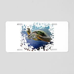Sea Turtle Aluminum License Plate