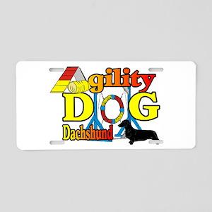 Dachshund Agility Aluminum License Plate