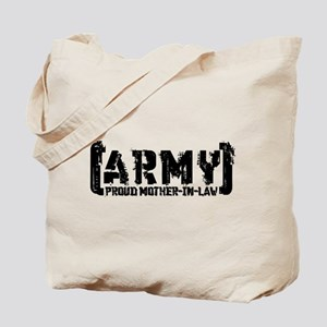 Proud Army Mthr-n-Law - Tatterd Style Tote Bag