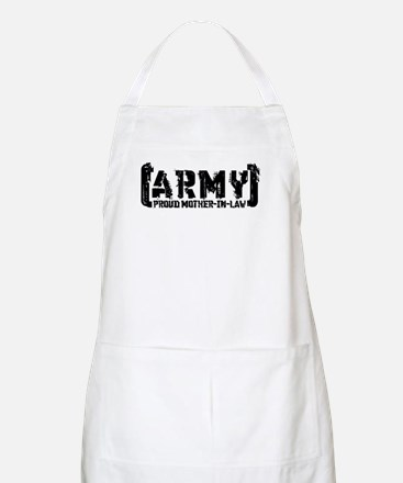 Proud Army Mthr-n-Law - Tatterd Style BBQ Apron