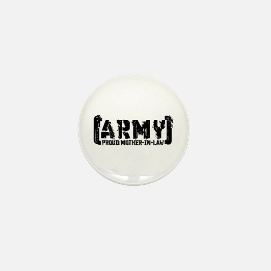 Proud Army Mthr-n-Law - Tatterd Style Mini Button