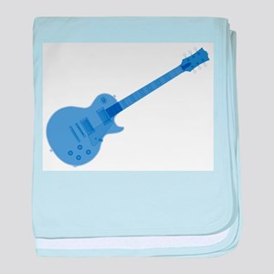 Solid Blue Guitar baby blanket