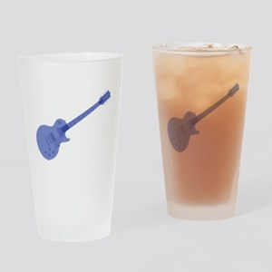 Solid Blue Guitar Drinking Glass