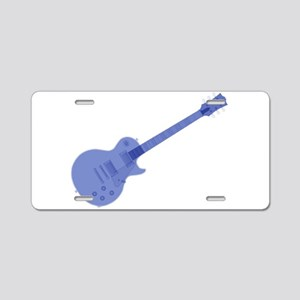 Solid Blue Guitar Aluminum License Plate