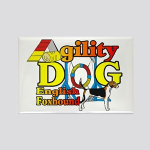 Foxhound Agility Rectangle Magnet (10 pack)