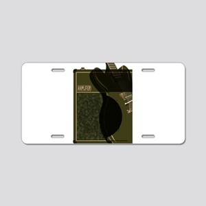 Guitar And Amplifier Abstra Aluminum License Plate