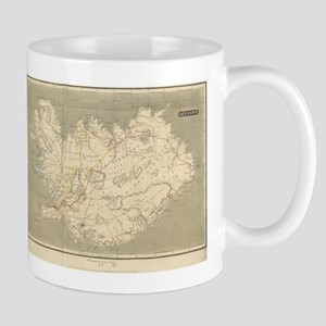 Vintage Map of Iceland (1819) Mugs