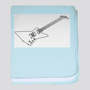 Modern Electric Guitar Outline baby blanket