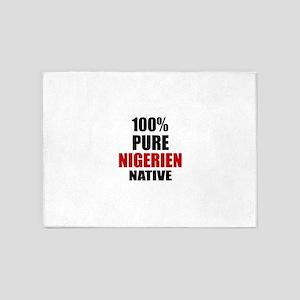 100 % Pure Nigerien Native 5'x7'Area Rug