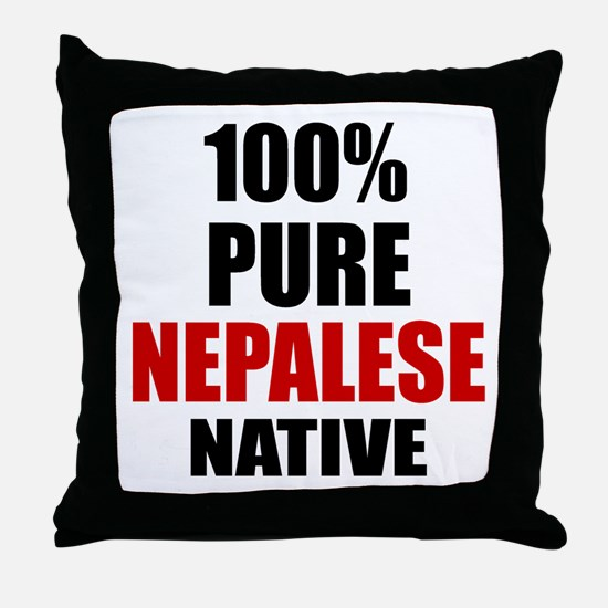 100 % Pure Nepalese Native Throw Pillow