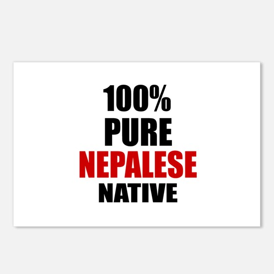 100 % Pure Nepalese Nativ Postcards (Package of 8)