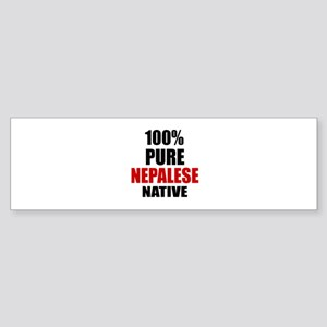 100 % Pure Nepalese Native Sticker (Bumper)