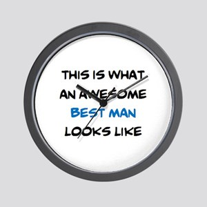 awesome best man Wall Clock
