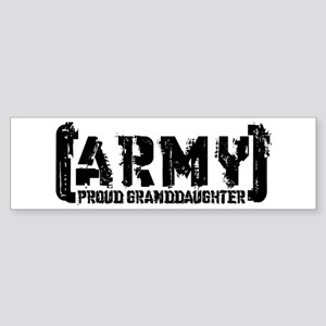 Proud Army Grnddghtr - Tatterd Style Sticker (Bump