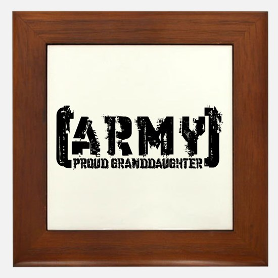 Proud Army Grnddghtr - Tatterd Style Framed Tile