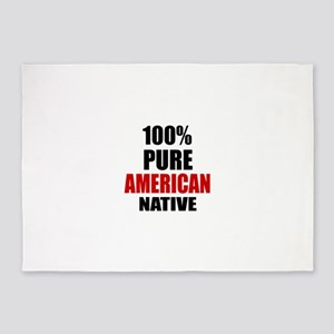 100 % Pure American Native 5'x7'Area Rug