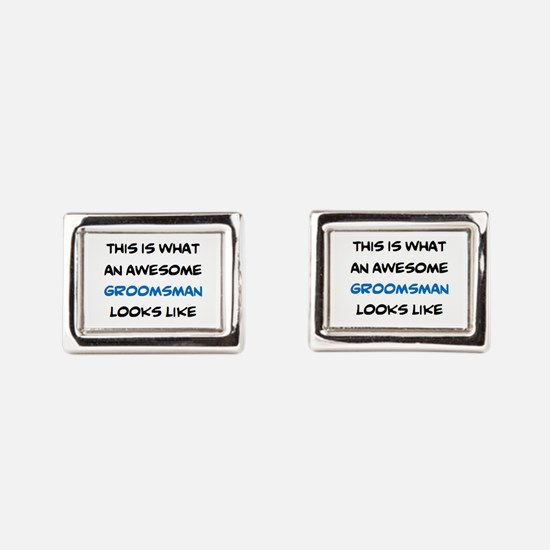 awesome groomsman Rectangular Cufflinks