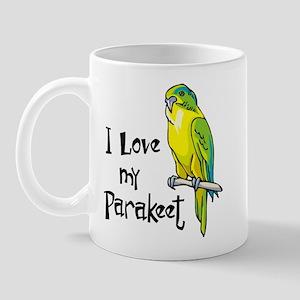 I Love my Parakeet Mug