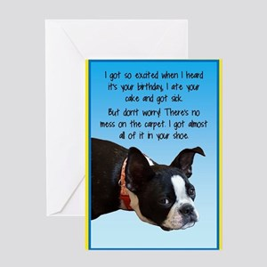 Sick Birthday Boston Greeting Cards