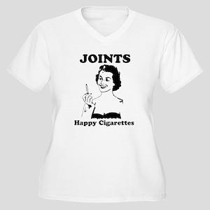 Joints; Happy Cigarettes Women's Plus Size V-Neck
